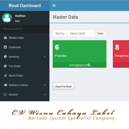Aplikasi Web & Desktop Kantor CV Wisnu Cahaya Label