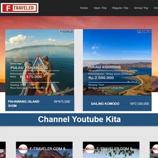 Website Travel Tour F-Traveler